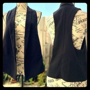 Black Semi Casual Racerback Vest with Pockets